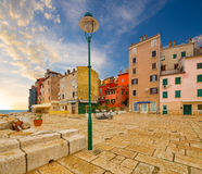 Rovinj Istria kroatien stockbilder