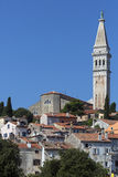 Rovinj - Istrian Peninsula - Croatia. The city of Rovinj in Croatia. The town is also know by its Italian name of Rovigno. Located on the western coast of the stock images