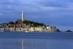 Rovinj - Istrian Peninsula - Croatia. The city of Rovinj in Croatia. The town is also know by its Italian name of Rovigno. Located on the western coast of the royalty free stock photos