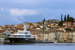 Rovinj - Istrian Peninsula - Croatia. The city of Rovinj in Croatia. The town is also know by its Italian name of Rovigno. Located on the western coast of the royalty free stock image