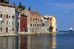 Rovinj - Istrian Peninsula - Croatia. Old buildings in the city of Ravinj on the Istrian Peninsula in Croatia. The town is also know by its Italian name of stock photo