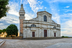 Rovinj, Kroatië - Juli 24, 2015: De Kerk van St Euphemia Royalty-vrije Stock Foto