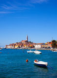 Rovinj little city in Istria, Croatia. View of Rovinj little city in Istria, Croatia Royalty Free Stock Images
