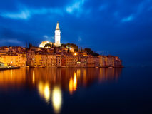 Rovinj by night Royalty Free Stock Images