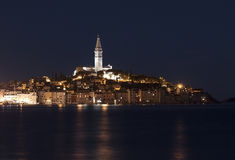 Rovinj by night Royalty Free Stock Photography
