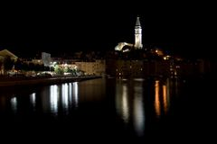 Rovinj by night (Croatia) Royalty Free Stock Images