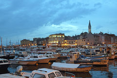 Rovinj at Night Royalty Free Stock Photos