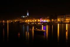 Rovinj at Night, Croatia Royalty Free Stock Image