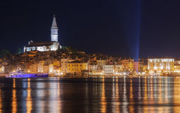 Rovinj by night Stock Images