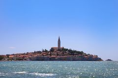 Wonderful Mediterranean town Rovinj, build on a peninsula, Croat Stock Images