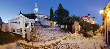 Rovinj old town. Panoramic view of Rovinj old town steet Royalty Free Stock Photography