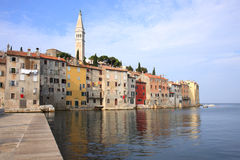 Rovinj old town Stock Image