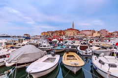 Rovinj old town in Adriatic  sea Stock Images