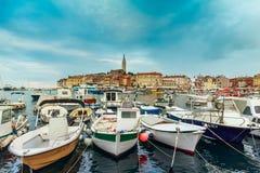 Rovinj old town in Adriatic  sea Stock Image