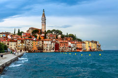 Rovinj old town in Adriatic  sea coast of Croatia Royalty Free Stock Photography