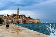 Rovinj old town in Adriatic  sea coast of Croatia Stock Images