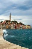 Rovinj old town in Adriatic  sea coast of Croatia Royalty Free Stock Image