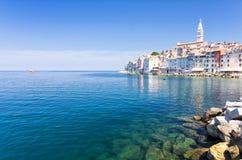 Rovinj old town in Adriatic sea coast of Croatia, Europe Stock Photos
