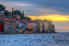 Rovinj old town in Adriatic  sea coast of Croatia Stock Images