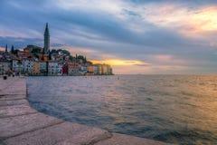 Rovinj old town in Adriatic  sea coast of Croatia Stock Photo