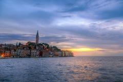 Rovinj old town in Adriatic  sea coast of Croatia Stock Photography