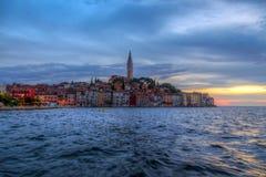 Rovinj old town in Adriatic  sea coast of Croatia Royalty Free Stock Photos