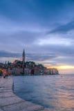 Rovinj old town in Adriatic  sea coast of Croatia Stock Photos