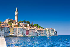 Rovinj old town in Croatia. Adriatic coast, Istra region, HDR image Royalty Free Stock Photos