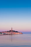 Rovinj old town in Croatia. Adriatic coast, in sunrise light. Istria region, popular touristic destination Royalty Free Stock Photography