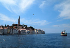 Rovinj old town in Croatia. Adriatic coast, Istra region Stock Photo