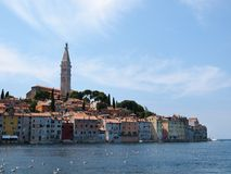Rovinj old town in Croatia. Adriatic coast, Istra region Royalty Free Stock Photos