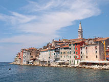 Rovinj old town in Croatia. Adriatic coast, Istra region Stock Photos