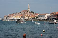 Rovinj old town in Croatia, Adriatic coast Royalty Free Stock Photos