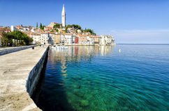 Rovinj old town in Croatia, Adriatic coast, Istra region Royalty Free Stock Images