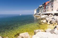 Rovinj old town in Croatia, Adriatic coast, Istra region Stock Images