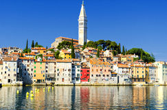 Rovinj old town in Croatia, Adriatic coast, Istria region Royalty Free Stock Images