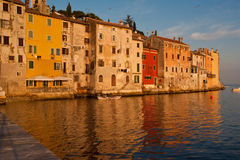 Rovinj - reflections. Reflections of old houses of rovinjan old town Royalty Free Stock Photos