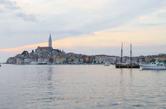Rovinj, Rovigno. Rovigno is a city in Croatia situated on the north Adriatic Sea, blue pearl Royalty Free Stock Image