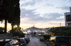 Rovinj, Rovigno. Istriot: Ruvèigno or Ruveîgno; Italian: Rovigno, Ancient greek: Ryginion, Ρυγίνιον is a city in Croatia situated on the north Adriatic Royalty Free Stock Photography