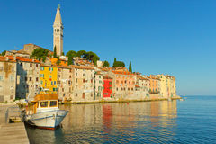 Rovinj with the St. Euphemia church's tower. Royalty Free Stock Image