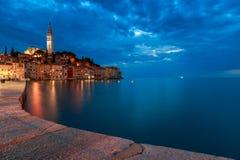 Rovinj stary miasteczko w Adriatyckim morzu Zdjęcie Stock