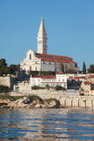 Rovinj sunrise. The city of Rovinj on the western coast of Istra peninsula in Croata lit by early morning sun Stock Images