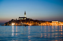 Rovinj after sunset Stock Photos