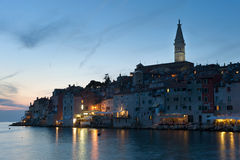 Rovinj after sunset Royalty Free Stock Images