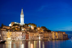 Rovinj after sunset Stock Photography