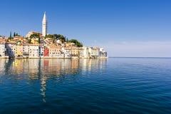Rovinj - town in Croatia, Istria. Rovinj old town in Adriatic sea coast of Croatia, Istria stock photo