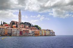 Rovinj Town West Side Royalty Free Stock Images