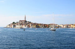 Rovinj village and adriatic sea, in Croatia Stock Image