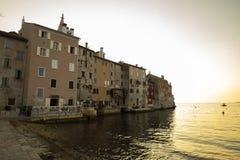 Rovinj, ville sur le westcoast d'Istria, Croatie photos stock