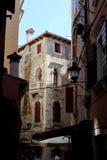 Rovinji, kleine straat, oude stad, Europa, Kroatië, Kroatien Stock Foto